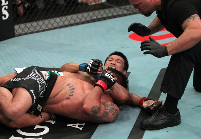 Want to watch a twister submission in the UFC? Chan Sung Jung and Leonard Garcia have you covered