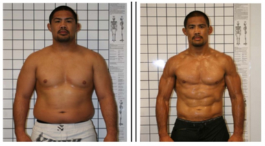 These pictures of UFC's Mark Munoz before and after weight loss are amazing