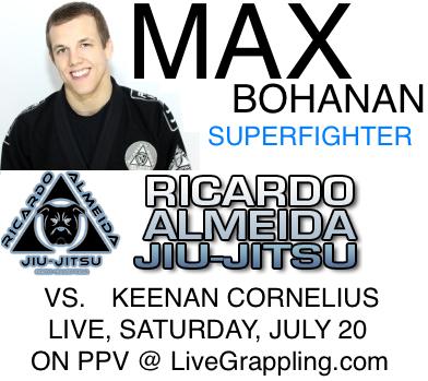 Watch Keenan Cornelius vs. Max Bohanan superfight through livestream tomorrow