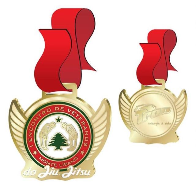 Medalhas do Encontro de Veteranos de Jiu Jitsu no Rio