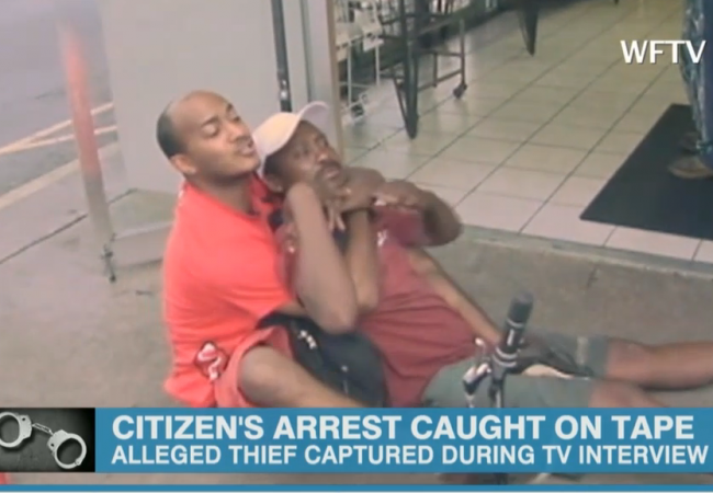 Shoplifter apprehended, CNN comments: 'Actually, I think those are Jiu-Jitsu moves'