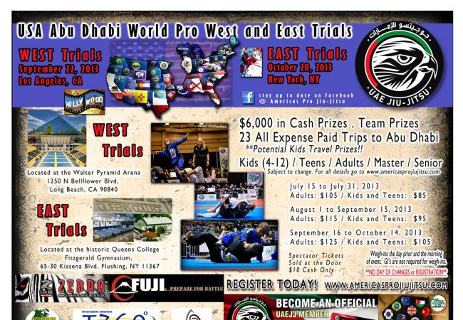 Abu Dhabi WPJJC Trials are back as early as Sep. 22; LA and NY!