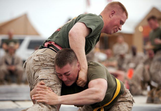Video: Watch female BJJ practitioner tap out male U.S. Marine
