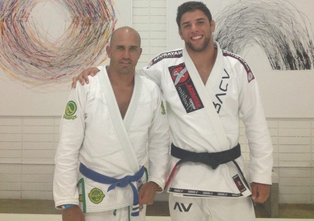 Marcus Buchecha and Kelly Slater after training. Promotional photo.