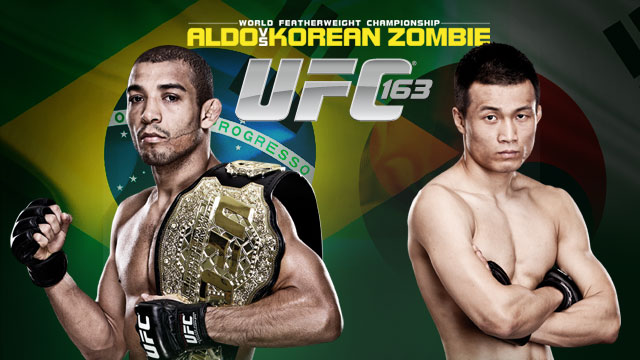 'UFC 163: Jose Aldo vs. Korean Zombie' quick results