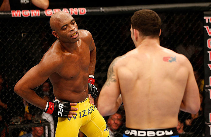 Chris Weidman knocks Anderson Silva out during the main event of UFC 162; photo: Getty Images