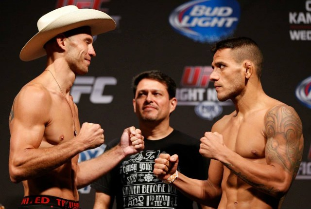Rafael dos Anjos beats Donald Cerrone in Indy. Photo via UFC.com.