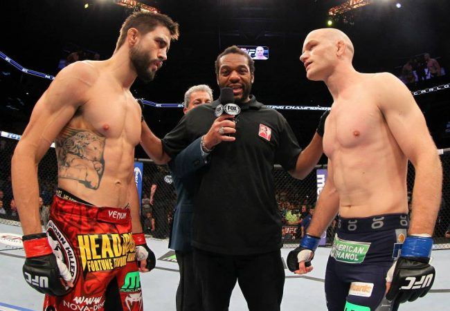 Watch a replay of Carlos Condit's TKO of Martin Kampmann at UFC Fight Night 27