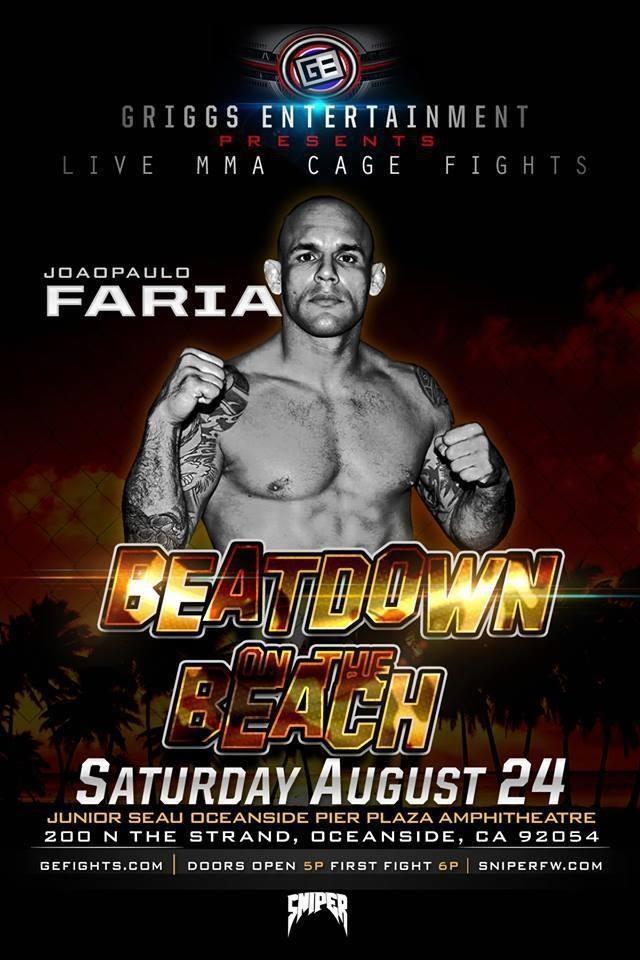 João Faria MMA fight Beatdown at the beach