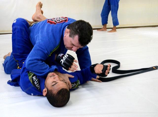 Jose Aldo treina Jiu Jitsu com o tecnico Dede Pederneiras na Nova Uniao Foto Arthur
