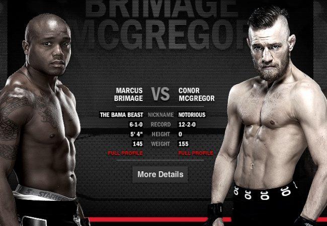 Free UFC Fight: Conor McGregor vs. Marcus Brimage