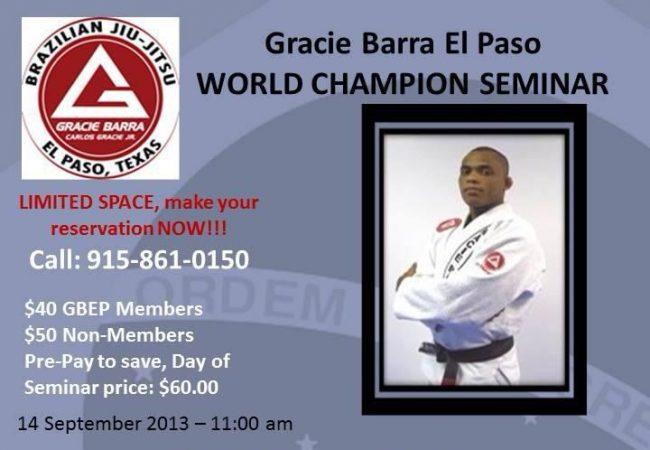 GMA Rafael Barata seminar in El Paso, Texas this Saturday, Sept. 14