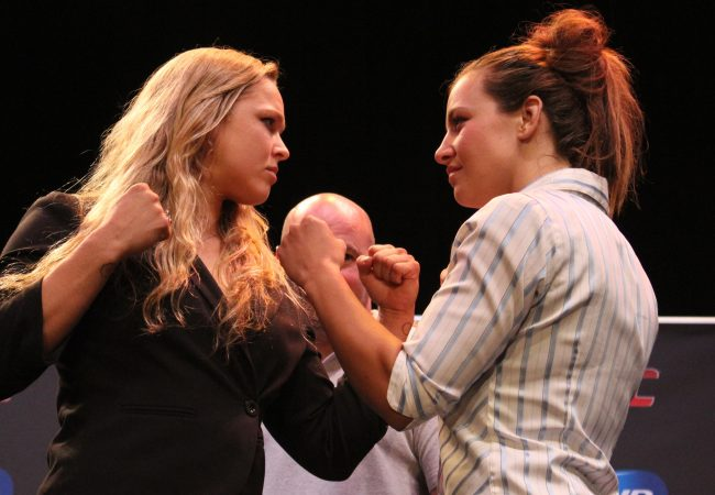 """Video: Ronda Rousey and Miesha Tate talk about the premiere of """"Ultimate Fighter 18: Rousey vs. Tate"""""""