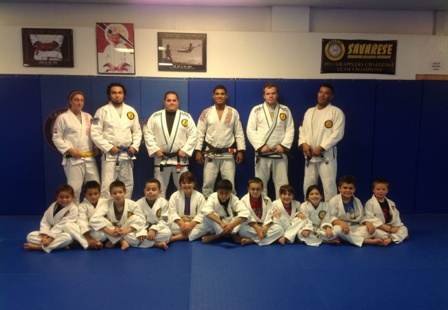 JT Torres teaches the kids at GMA Savarese BJJ a day before the Pan No-Gi