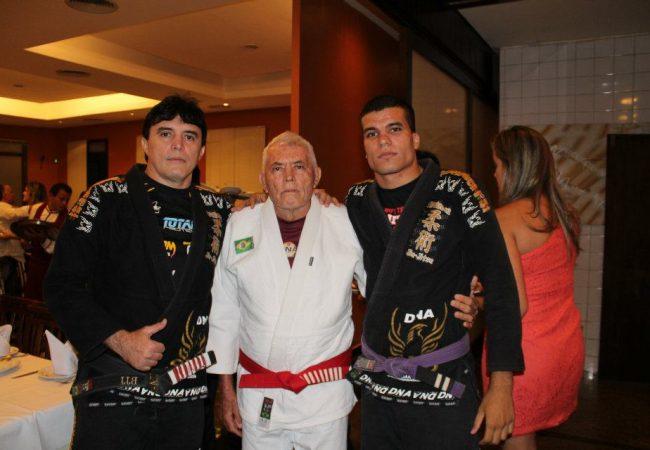 Mestre Sa 77 anos com Sazinho e Robson Foto Acervo Pessoal