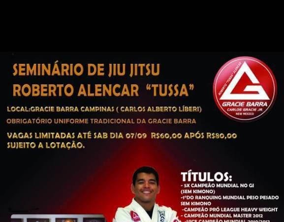 "Roberto ""Tussa"" Alencar seminar in Sao Paulo, Brazil on Sept. 11"