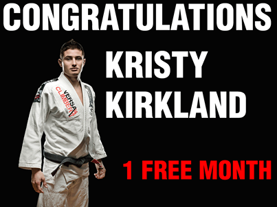 Caio Terra's online training: Kristy Kirkland wins first raffle, more to come