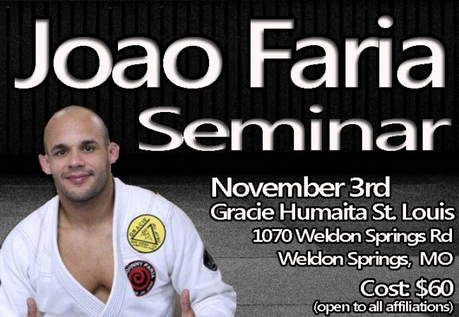 Joao Faria seminar at GMA Gracie Humaita St. Louis on Nov. 3