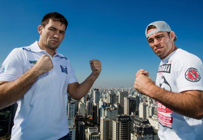 Veja o jornalista Demian Maia entrevistando Jake Shields para o UFC SP