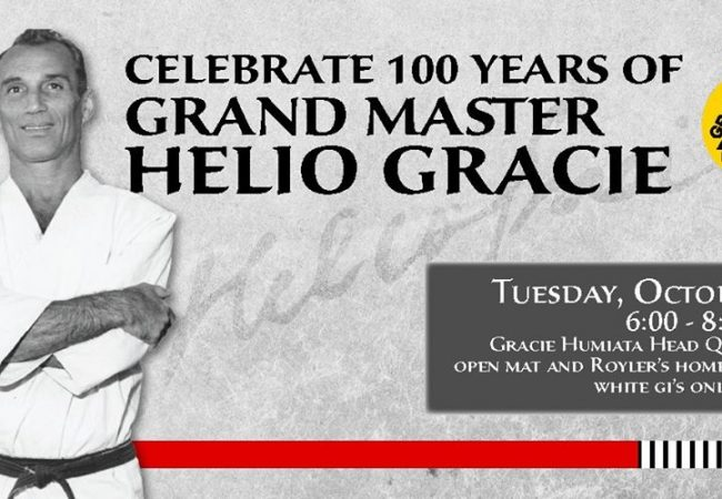 Celebrate 100 years of Grand Master Helio Gracie at Gracie Humaita HQ San Diego