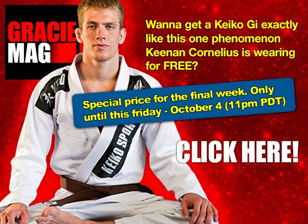Last week of the deal with the FREE Keiko Summer Gi – Subscribe to GRACIEMAG now!