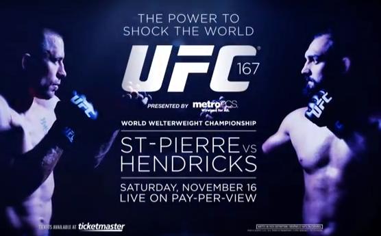 "The ""UFC 167: St-Pierre vs. Hendricks"" video promo is the best we've ever seen"