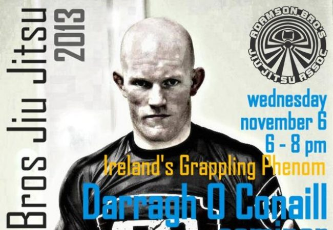 Learn from Darragh O'Conaill on Nov. 6 at GMA Seaside BJJ in Seaside, OR