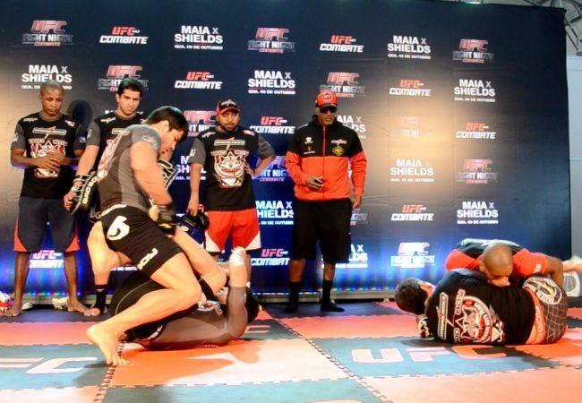UFC Barueri: Erick, Nuguette, Frazatto e Paulo Thiago em treino de Jiu-Jitsu