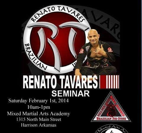 Get to this Renato Tavares seminar on Feb. 1 in Harrison, Arkansas