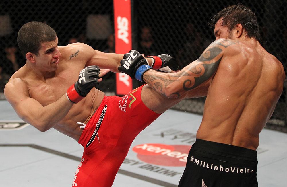 Sertanejo sonha em lutar pelo UFC no exterior. Foto: Josh Hedges/Zuffa LLC via Getty Images