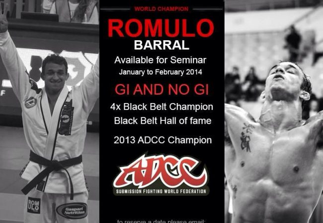 Want to learn from World and ADCC champion Romulo Barral? Plan a seminar!