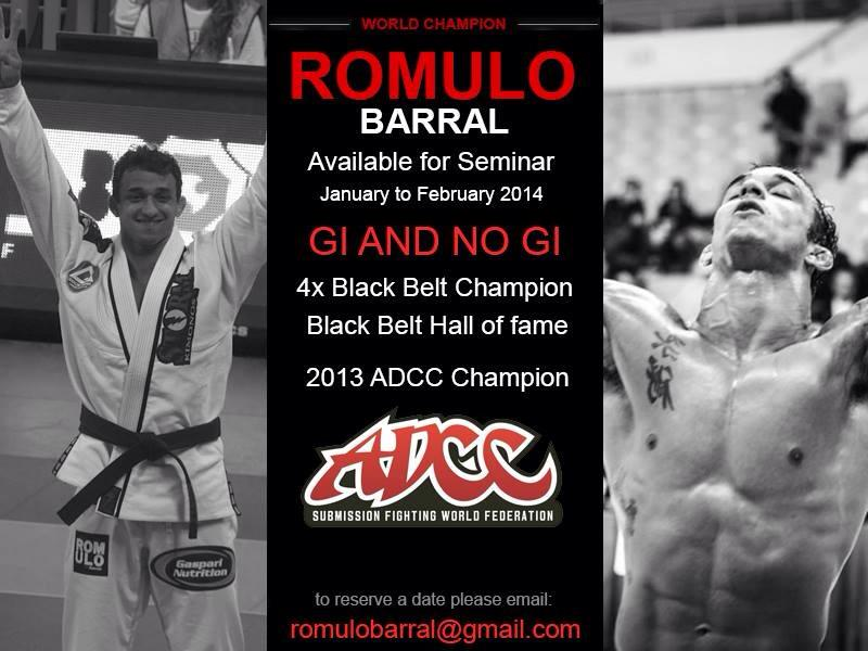 GMA member Romulo Barral is available for seminars in January and February 2014