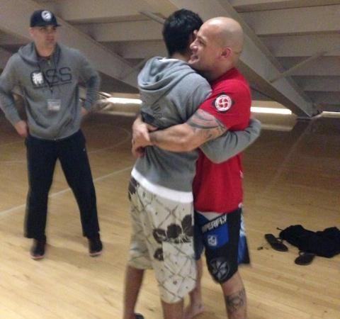Uma aula particular de Jiu-Jitsu e meia-guarda com Saulo, Leandro Lo e Xande