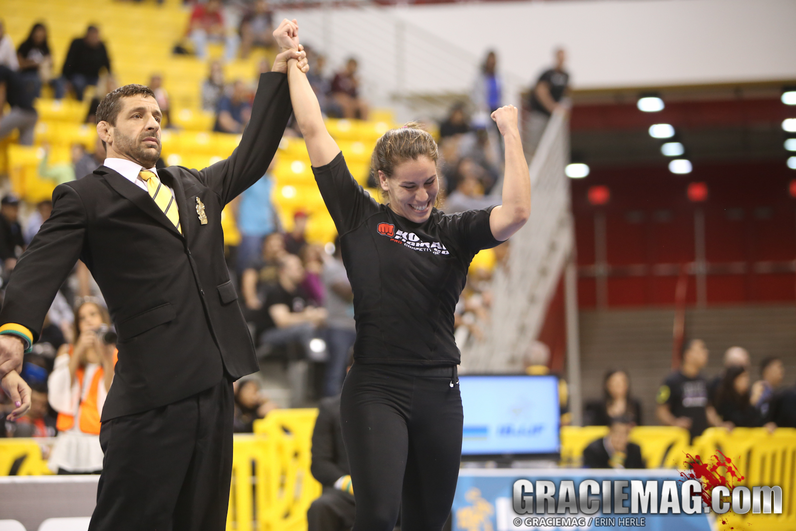 Luiza Monteiro after a win. Photo: Erin Herle