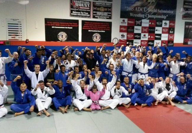 Em aulão de Rosado, astros do UFC Hector Lombard, Tibau & cia vestem kimono
