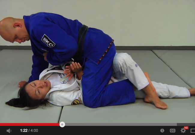 Learn to escape the mount when fighting a much heavier opponent