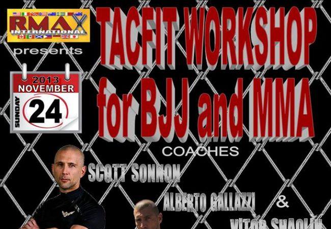 GMA Vitor Shaolin BJJ to host TacFit training system workshop on Nov. 23-24