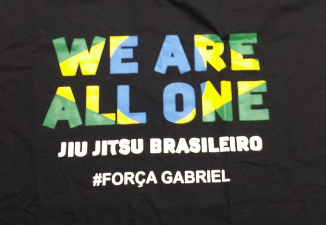 Com camiseta beneficente, Gabriel Diniz recebe apoio do mundo do Jiu-Jitsu