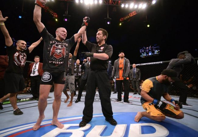 Os bastidores da polêmica vitória de GSP sobre Hendricks no UFC 167