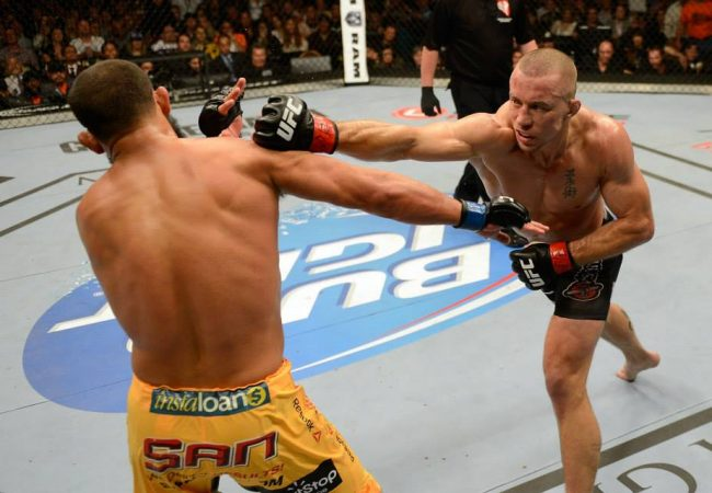 Johny Hendricks e o soco inusitado que acertou seu próprio queixo, no UFC 167