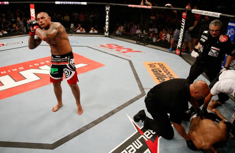 Thiago Silva após vitória no UFC. Foto: Divulgação