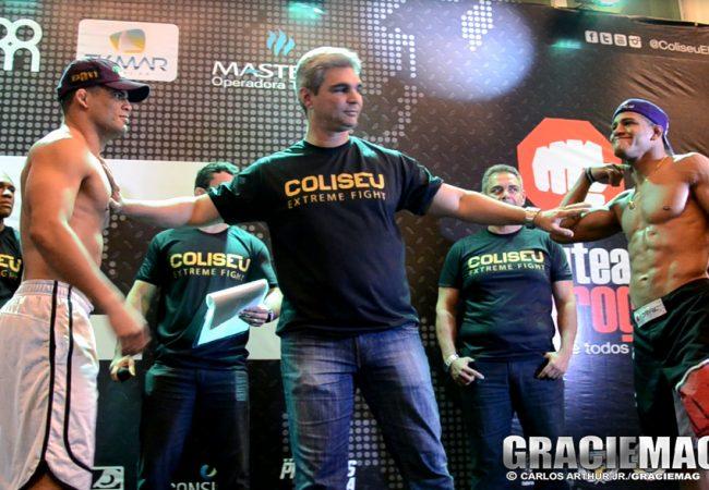 Vídeo: Bananada e Durinho se estranham na pesagem do Coliseu 8