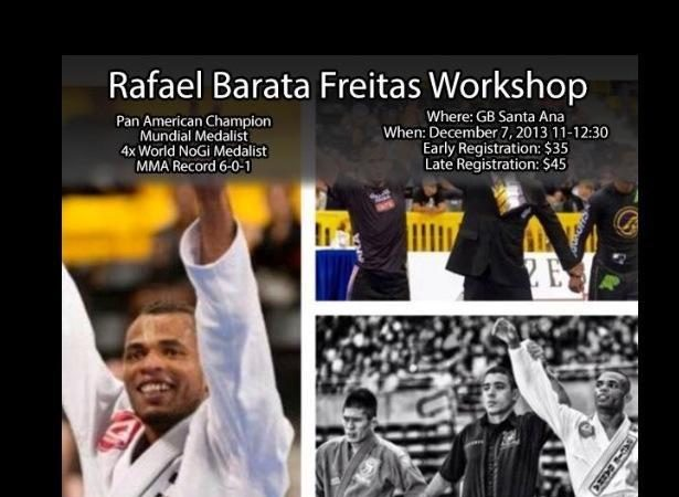 Rafael Barata Freitas seminar in Orange County, CA on Saturday, Dec. 7