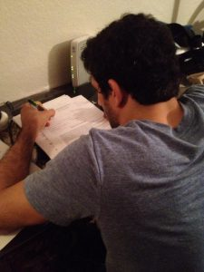 Signing the UFC contract. Photo: Personal Archive