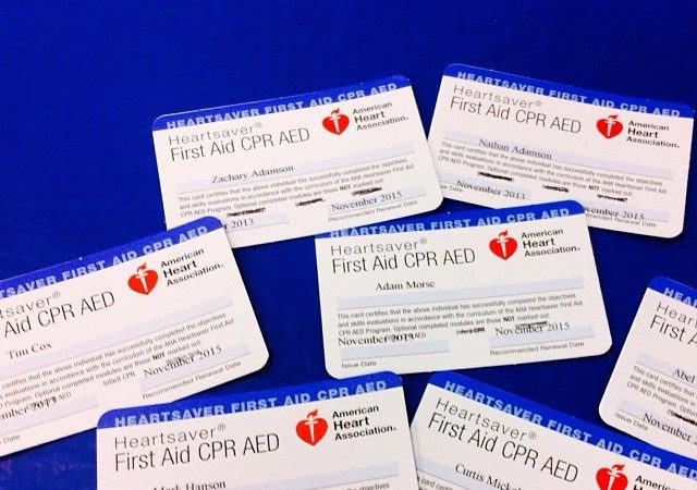 Instructors at GMA Seaside Jiu-Jitsu Academy earn CPR/First Aid & AED certificates