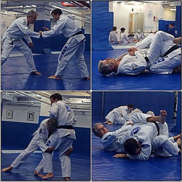 Bourdain works various techniques at GMA Renzo Gracie Academy. Photo: @ottaviabourdain instagram