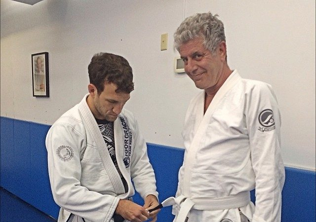 Chef Anthony Bourdain earns his first stripe at GMA Renzo Gracie Academy