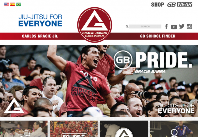 Gracie Barra launches new website to integrate the Jiu-Jitsu experience