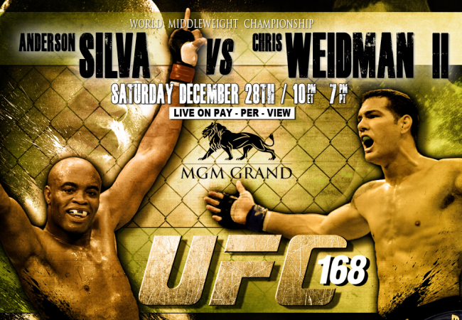 Quick Results: UFC 168 – Weidman vs. Silva II