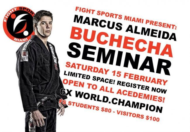 Marcus Buchecha Almeida seminar at Fight Sports Miami on Feb. 15 to fill fast